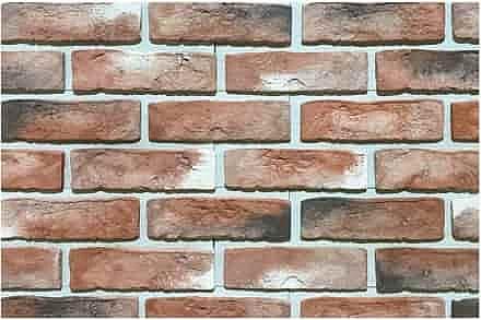 Фасадная плитка Каньон Конаковский кирпич с перекрытием