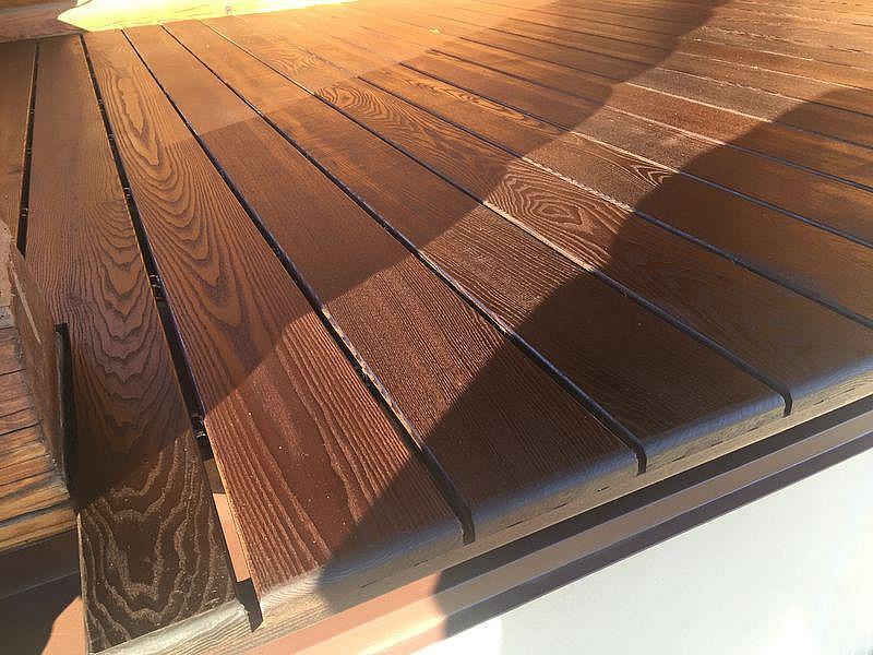 Террасная доска из термообработанной древесины